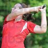 Tribune-Star/Rachel Keyes<br /> Follow through: Kelsy Fuqua finishes off a swing.