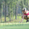 Tribune-Star/Rachel Keyes<br /> Eying the putt: Bailey Craft takes a minute to set up for a putt Sunday.
