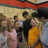 Tribune-Star/Rachel Keyes<br /> Directions: Stage director Josh Hoffman gives cast members some words of direction before starting practice on Sunday.