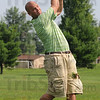 Tribune-Star/Rachel Keyes<br /> Fore: Zack Keyes drives it straight down the fairway in action at the Brazil Open Sunday.