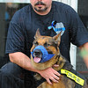 Tribune-Star/Jim Avelis<br /> Retired: Brent Long's K-9 partner Shadow is retired from active duty and will live with the Long family.