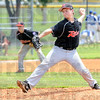 Relief: Riley's #9 Jordan Ralston takes over as a relief pitcher in Friday's game in Robinson, Illinois.