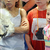 Eye to eye: Seven-year-old Kai Miller comes face-to-face with an alpaca during Friday's event at the Terrre Haute Children's Museum.