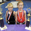 Ranked: Gabe Wyndham and Mircea Kippes show their medals and trophies from a recent national competition.