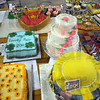 Cake decorating: Detail photo of some of the entries in the cake decorating competition.