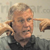 Mental game: Tommy John talks about the mental aspect of pitching during his presentation at the Children's Museum.
