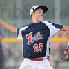 Tribune-Star/Rachel Keyes<br /> Strike: North's Wes Long prepares to throw a strike in action Saturday evening.