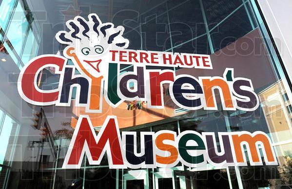 Children's Museum signage: Detail of door sign.