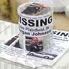 Tribune-Star/Jim Avelis<br /> Still looking: A donation can rests atop flyers asking for help in locating Morgan Johnson at a bake sale Saturday morning.