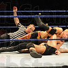 Tribune-Star/Rachel Keyes<br /> One, two, three: Christian pins Randy Orton at Smackdown on Sunday night at Hulman Center.