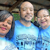 """Triplets: Hiawatha Battle (L), James """"papa"""" Taylor and Delores Taylor are triplets born August 3, 1965 attending the 57th annual Smith-Bolden family reunion at Deming Park Saturday afternoon. ."""