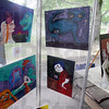 Art in the park: Montezuma artist Nicole Skinner displays some of her artwork in Deming Park Saturday afternoon.