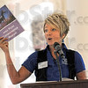 United Way: Bernice Helman of Coldwell Banker Troy Helman speaks at the United Way breakfast at SMWC Wednesday morning.