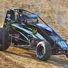 Tribune-Star/Jim Avelis<br /> Runnning: West Terre haute's Blake Fitzpatrick rounds turn four in his qualifying run Wednesday evening for the local Sprint Week race at the Terre Haute Action Track.