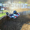 Tribune-Star/Jim Avelis<br /> OK: Brandon Mattox walked away from this wreck that happened between turns three and four while he was attempting to qualify for the Sprint Week race Wednesday evening.