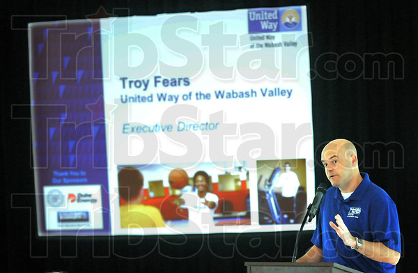 Director: Troy Fears introduces four videos that will be used during the 2011 Campaign during Wednesday's breakfast meeting.