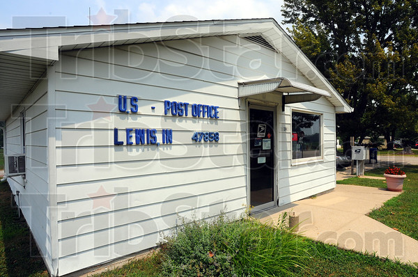 Tribune-Star/Jim Avelis<br /> Watched: The post office in Lewis in far  soutyheastern Vigo county is one of the Wabash Valley facilities under review.