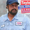 Tribune-Star/Jim Avelis<br /> Reduced already: Jim Stiber, a courier with Taylor Mail Service says his hours, and income, will be greatly affected if country post offices are closed.