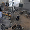 Tribune-Star/Jim Avelis<br /> Work in progress: Sheet metal ductwork covers the main floor of the old Emiline Fairbanks Library. Renovation work is scheduled to be completed next month.