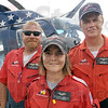 Team: The Air Evac Lifeteam members are from left, Flight Nurse Jeremy Bowman, Flight Paramedic Stacy Fiscus and Pilot Bob Gaudet participted in Tuesday's Block Party at Regional Hospital.