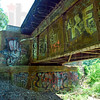 Graffiti: The under side of the CSX tressel is coated with graffiti.