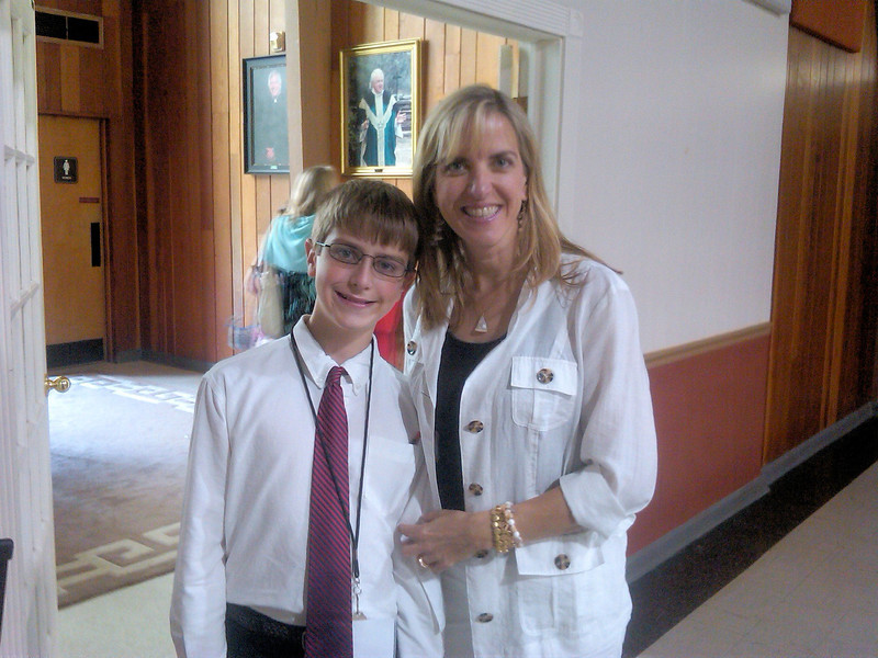 Anthony and Mom, following RSCM choir at St. Johns.