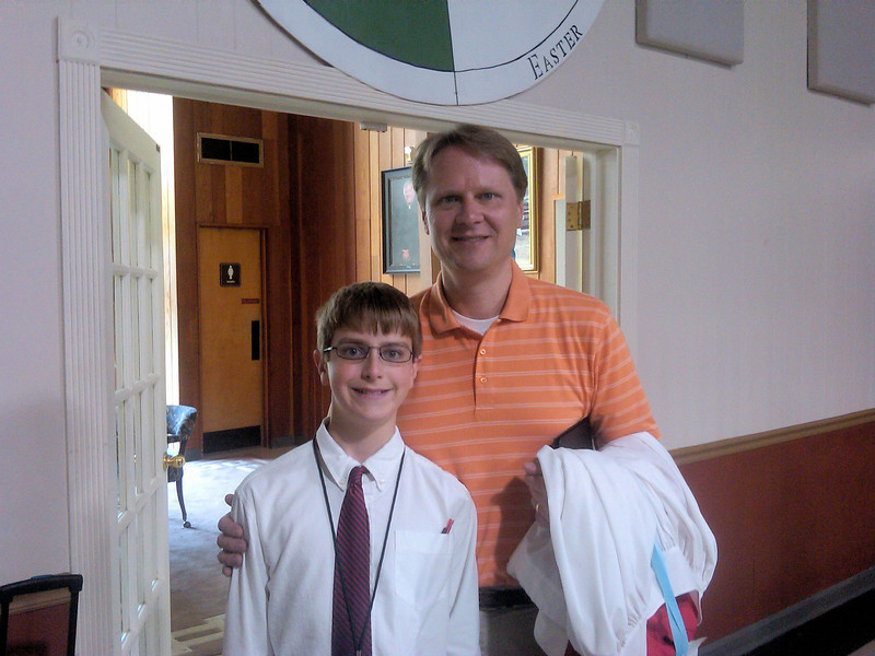 Anthony and Dad, following RSCM choir at St. Johns.