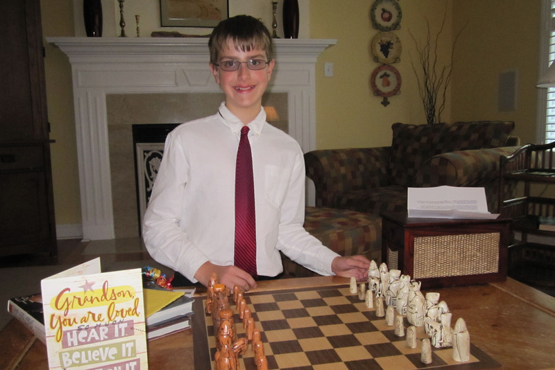 Anthony, 12th birthday, chess set from Nonna