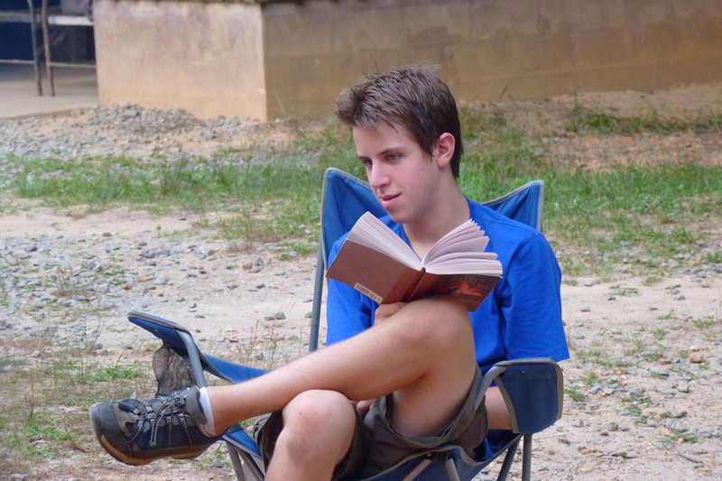 Jacob relaxing at summer camp