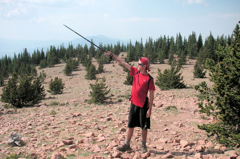 Jacob, on Mt. Phillips, Philmont Scout Ranch