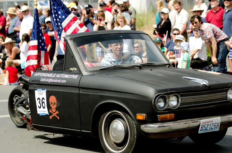 Front half:  Datsun<br /> Back half:  Suzuki<br /> Complete package:  Totally American