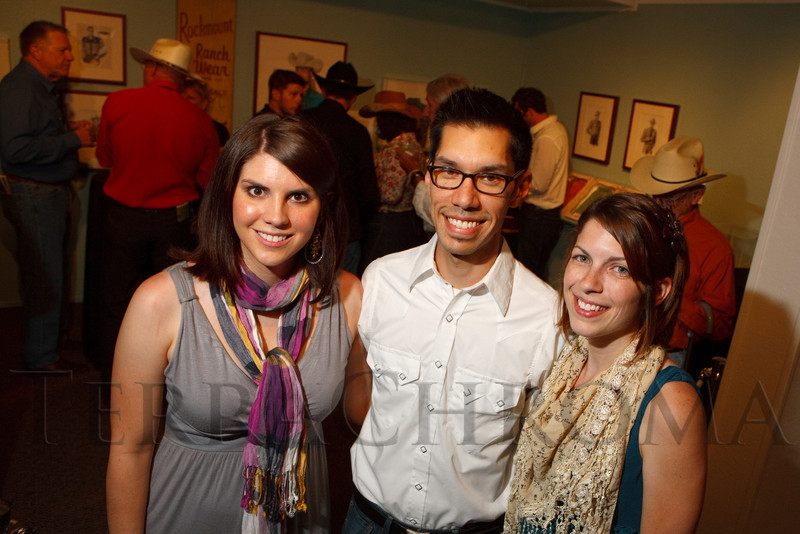 (Golden, Colorado, July 16, 2011)<br /> With FAC:  Camron Bridgfort (development associate), Michael Chavez (curator), and Annetta Crecelius (communications).  RockWest, a fundraiser for the Foothills Art Center, at the Foothills Art Center in Golden, Colorado, on Saturday, July 16, 2011.<br /> STEVE PETERSON