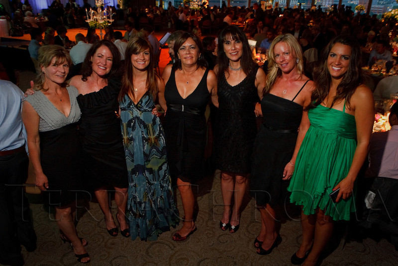 "(Denver, Colorado, July 16, 2011)<br /> Kristin Bloom (second from right).  Jeremy Bloom's Wish of a Lifetime foundation third annual ""The Evening Affair,"" themed ""A Midsummer Night's Wish,"" at the Donald R. Seawell Grand Ballroom, Denver Center for Performing Arts, in Denver, Colorado, on Saturday, July 16, 2011.<br /> STEVE PETERSON"