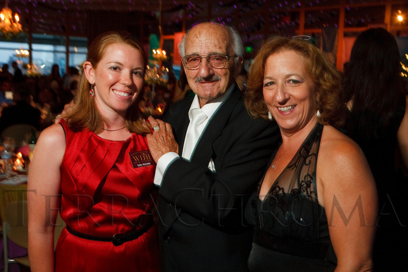 """(Denver, Colorado, July 16, 2011)<br /> Sally Webster (JBWOL wish coordinator), Tony Canino, and Gina Kemper (daughter of Canino).  Jeremy Bloom's Wish of a Lifetime foundation third annual """"The Evening Affair,"""" themed """"A Midsummer Night's Wish,"""" at the Donald R. Seawell Grand Ballroom, Denver Center for Performing Arts, in Denver, Colorado, on Saturday, July 16, 2011.<br /> STEVE PETERSON"""