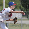Tribune-Star/Jim Avelis<br /> Just enough: Zach Kent pitched 6 innings for Post 346 in their win over Lafayette Thursday evening on the Terre Haute North ball diamond.