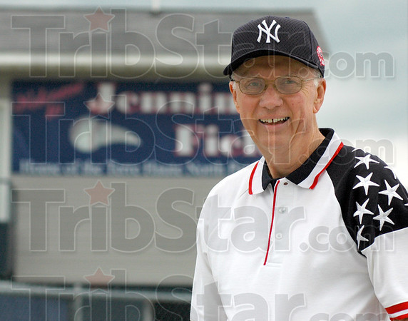 Tribune-Star/Jim Avelis<br /> Recognized: Former Patriot baseball coqach Don Jennings had the Terre Haute North ball diamond named in his honor recently.