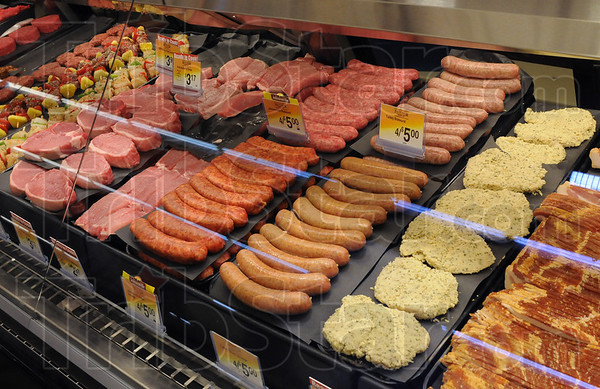 Can't beat our meat: Detail photo of meat section at the north Kroger store during Thursday's grand opening event.
