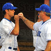 Tribune-Star/Jim Avelis<br /> Bump: Brandon Dorsett is playing for the Rex again this summer with his father Brian as head coach.
