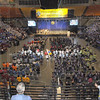 Tribune-Star/Rachel Keyes<br /> Competing for greatness: Thousands fill the Hulman Civic Center for the opening ceremonies of the Special Olympics.