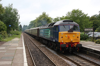 47818 Bradford on Avon 25/06/11 1Z71 Cardiff to Eastleigh Northern Belle circular with 47501 on the rear