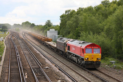 66152 Worting Jct 30/06/11 6V27 Eastleigh to Hinksey with 47799 DIT