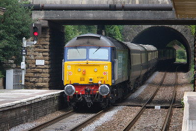 47501 Bradford on Avon 25/06/11 on the rear of 1Z71 Cardiff to Eastleigh Northern Belle led by 47818