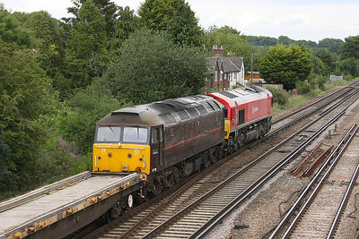 47799 Worting Jct 30/06/11 moving DIT behind 66152