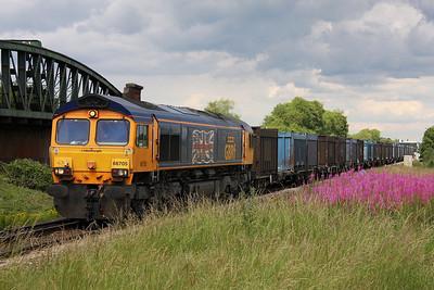 66705 Battledown 29/06/11 4Y19 Mountfield to Southampton Western Docks