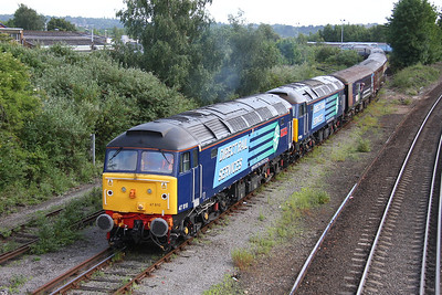 47810 Eastleigh 18/06/11 leading 47501 with the 5Z52 Eastleigh to Southampton Western Docks ecs and 57004 on the rear