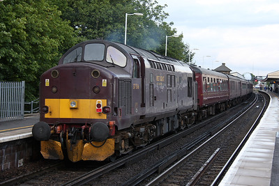 37516 Basingstoke 16/06/11 on the rear of 1Z93 Swanage to Victoria led by 34067 Tangmere
