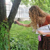 Tribune-Star/Rachel Keyes<br /> Archiving herbs: Sarah Baldwin takes a snap shot of some Virginia Creeper to add to her catalog of healing herbs as she attends a Medical Herbalism Conference host by St. Mary-of-the-Woods White Violet Center.