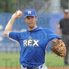 Tribune-Star/Rachel Keyes<br /> On the mound: Pitcher Daniel Heefner battles it out on the mound for the Rex in action Sunday.