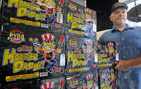 Hoosier Daddy: Kenny Dean is the owner of Dean's Factory Outlet Fireworks located at SR 46 and Margaret. The product shown is one of several with a local connection at the store.