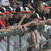 Tribune-Star/Rachel Keyes<br /> Dugout: The Terre Haute South dugout watches as their team struggles to score in early innings Saturday against Evansville Harrison.